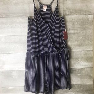 Mossimo striped bow side romper